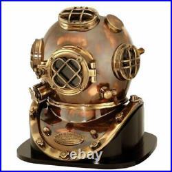 U. S. Navy Mark V Replica 1952 Diving Divers Helmet With Base Gift