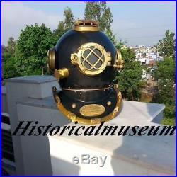 U. S Navy Mark V Scuba Antique Nautical Vintage Brass Diving Helmet