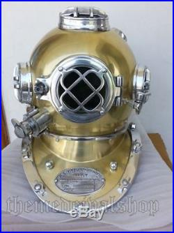 U. S Navy Mark V Sea Vintage old Diving Divers Helmet Scuba Decorative Replica
