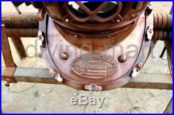U. S Navy Mark V Solid Steel Antique V. Brown Diving Divers Helmet