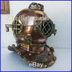 U. S Navy Mark V Vintage Antique Scuba Divers Helmet Vintage 18 Diving Helmet