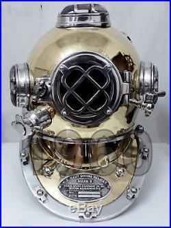 U. S Navy Mark V Vintage Sea Antique Helmet Diving Divers Vintage Helmet