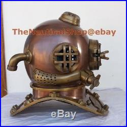 U. S Navy Mark V XMAS Gift Real Antique Vintage Marine Diving Divers Helmet