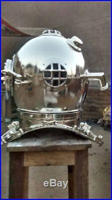 U. S Navy Mark V decorative natuical Solid Steel Diving Divers Helmet Full Size