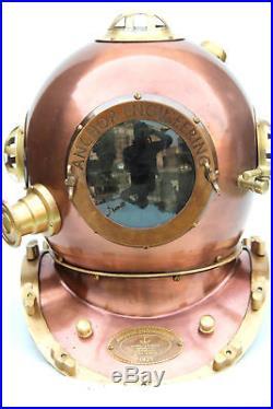 U. S Navy Mores Authentic Diving Helmet (Mark V) SCA COSTUME Gift