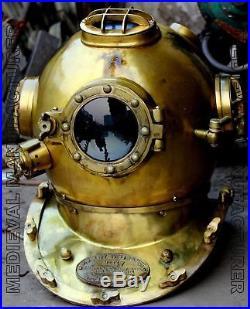 U. S Navy Scuba Diving Divers Helmet Mark V Beautifu Solid Steel 18 Inches