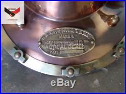 U. S Navy Scuba Solid Steel & Brass Fitting Model Diving Diver Helmet