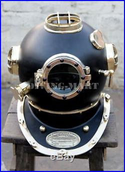 U. S Navy VINTAGE Mark V Solid Steel & Brass Diving Divers, Helmet