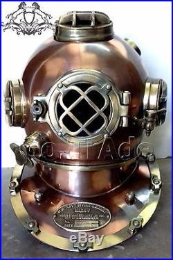 U. S Navy Vintage Dive Helmet Mark V Antique Diving Divers Marriage GIFT Helmet