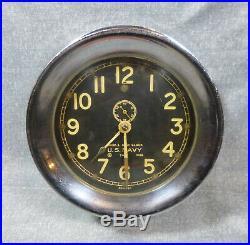 U. S. Navy WWII Chelsea 7451 Mark 1 Deck Clock 1940
