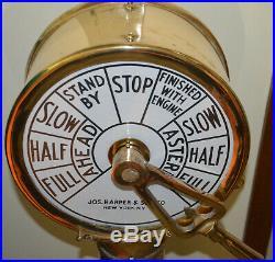 U. S. Navy WWII Liberty Ship Engine Room Telegraph