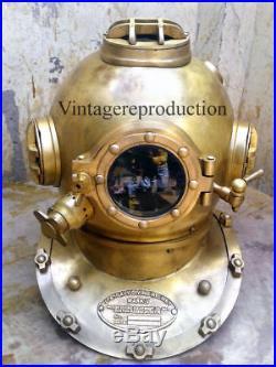 U. S Navy antique 18 diving helmet mark V deep sea vintage divers helmet