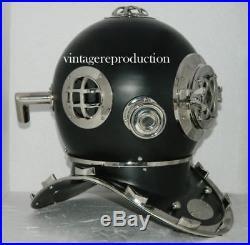 U. S navy marine Beautiful brass 18 diving divers helmet mark V deep sea item