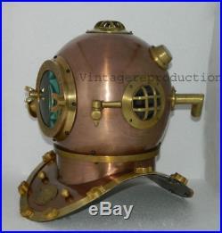U. S navy mark V deep sea replica antique diving helmet divers helmet scuba 18