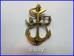 US NAVY Chief Petty Officer badge no maker CPO USN hat badge pin back