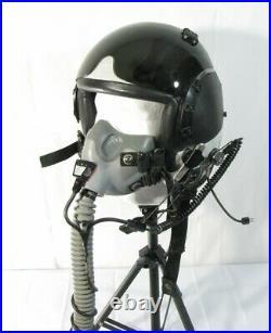 US Navy USN F/A-18 Gentex HGU-68/P Flight Pilot Helmet Oxygen Mask/Comms Mic Lg