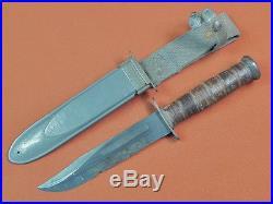 US WW2 WWII CAMILLUS Navy USN MK2 Fighting Knife & Scabbard