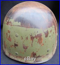 US WWII ARMY NAVY Early 1942 M1 Helmet FS FB with Early Inland Liner. RARE