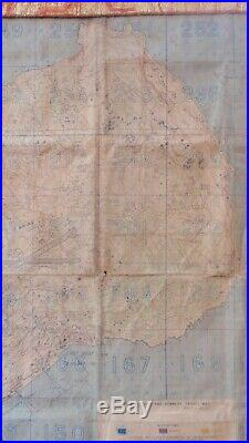 USMC / USN SECRET-IWO JIMA SPECIAL AIR & GUNNERY TARGET MAP Original 1945 WWII