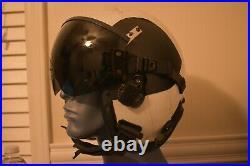 USN GENTEX XL Extra Large HGU-68/p fighter pilot Flight Helmet with visor