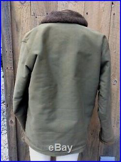 USN N1 DECK JACKET Stenciled Mens WW2 Winter Uniform Vintage Jacket Coat Mint 40