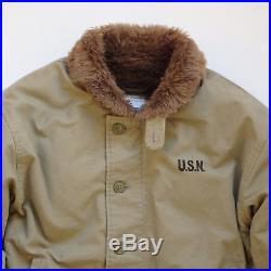 USN Navy N1 N-1 Deck Jacket KHAKI Vtg Finish. Repro Model. Many sizes