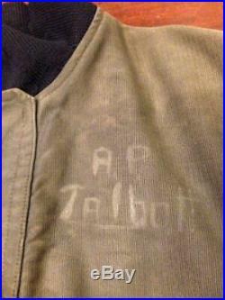 USN US Army WW 40s Deck Hook Jacket N-1 vintage item cotton grosgrain very rare