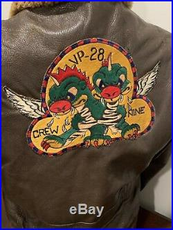 USN WWII ORIGINAL M-422A NAVY FLIGHT JACKET Named USNA 1944 Lucky Bag With History