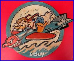 Us Navy 8th Torpedo Squadron Uss Hornet-layered Leather Patch