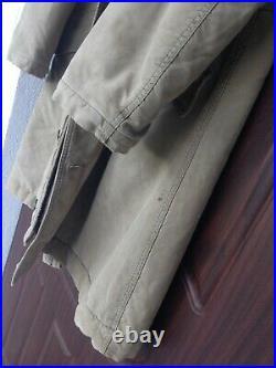 Us Navy Ww2 Sailor Deck Jacket Size Green Alpaca Usn Coat Rare Heavy