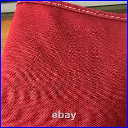 Used Vintage LL Bean Tote Bag Red Navy Blue Boat And Tote 21 x 15 Canvas Large