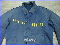 VINTAGE 1960's 1970's USN US NAVY DEPARTMENT BRIG JACKET MEN'S SIZE SMALL