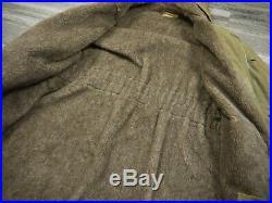 VINTAGE 40s WW2 USN N1 DECK PARKA HOODED ALPACA JACKET 44 USN WWII US NAVY