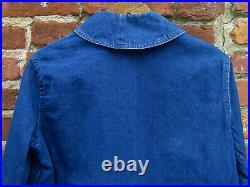 VINTAGE US NAVY Shawl Collar JACKET Denim Jeans WWII Dungaree Trouser