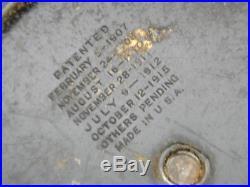 VINTAGE WWI US NAVY 8 Days CLOCK Plane Ship Auto Keyless Watch WW1 Aviation Old