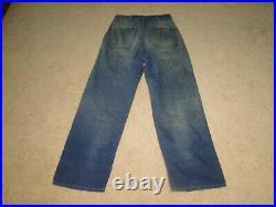 VINTAGE WWll US NAVY Denim Jeans Sailor Dungaree Trouser Uniform 32 x 31