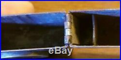 VTG WWII ZIPPO LIGHTER BLACK CRACKLE 4 BARREL HINGE U. S. Navy 1942-1946 Original