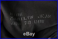 VTG Women's WWII Navy WAVES Wool Uniform Overcoat Sz S / M #2650 WW2 1940s Coat