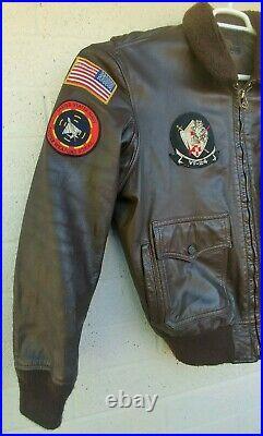 Vietnam War USN G-1 Flight Jacket Contract No. N383S-51863 USS Enterprise Bomber