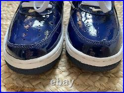 Vintage'05 Nike Air Force 1 Patent Leather Navy Blue/ Red/ White 306353 462 NEW
