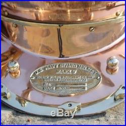 Vintage 18 U. S Navy Diving Helmet Mark V Deep Sea Divers Helmet Antique Boston