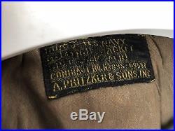 Vintage 1940s USN NAVY TYPE G-1 55J14 (AER) FLIGHT JACKET SIZE 40 Leather WW2