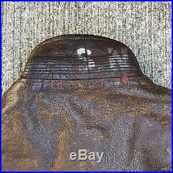 Vintage 1940s USN NAVY TYPE G-1 FLIGHT JACKET Leather WW2 Bauer Star Sportswear