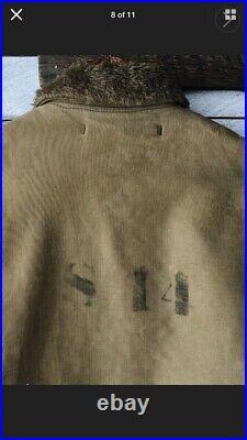 Vintage 1940s USN NXSx Navy N-1 Deck Jacket Coat Size 40 WWII WW2 Stenciled
