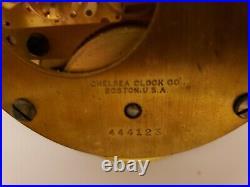Vintage 1944 WWII Chelsea Clock US Navy Bakelite Military Ship Deck Wall Clock