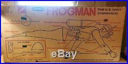 Vintage 1961 Remco Frogman Motor Operated U. S. Navy Commando In Original Box
