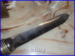 Vintage Bomar Corp Hard Helmet Wwii Navy Deep Sea Diving Knife
