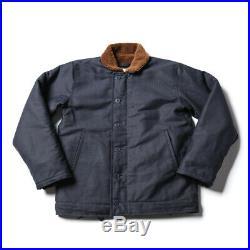 Vintage Bronson USN N-1 Deck Jacket WW2 Military Uniform Motorcycle Men's Coat