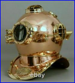 Vintage Copper Antique Morse Scuba Divers Diving Helmet Navy Mark Deep Marine