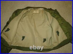 Vintage Green USN G8-WEP Pilot Military Flight Jacket CONMAR Zipper Sz44